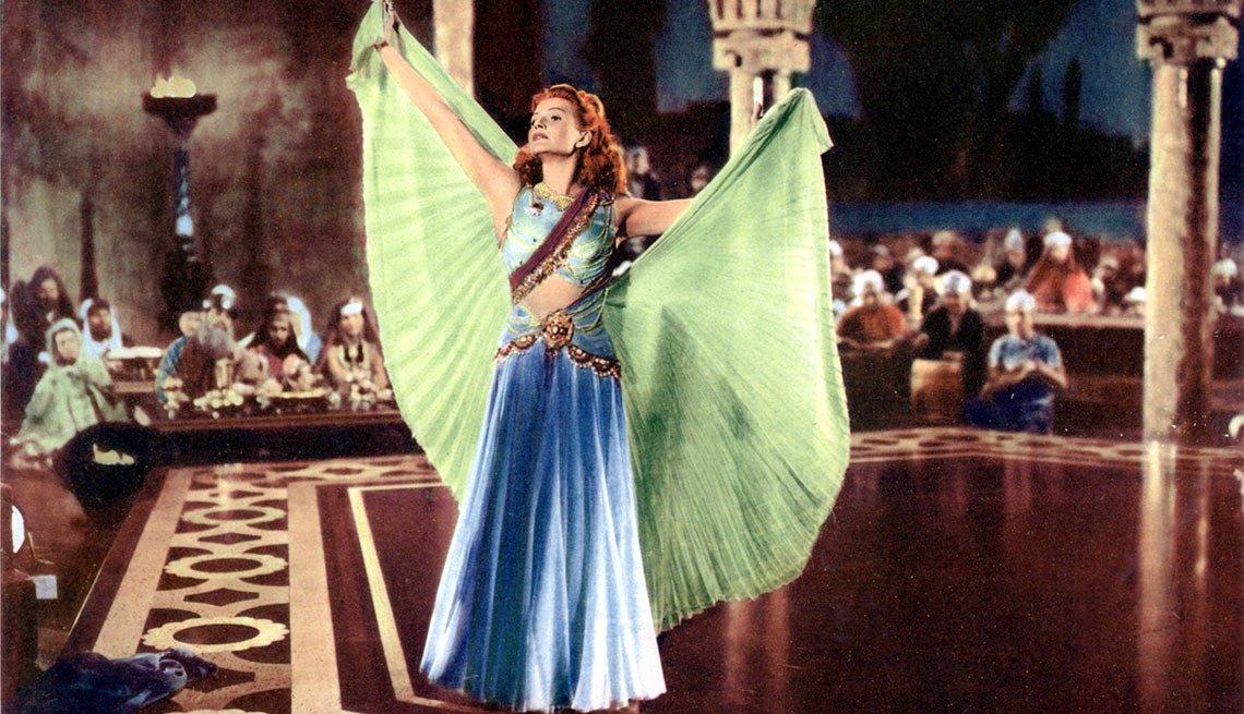 Rita Hayworth en una escena de la película Salome - La vida de la artista en el cine
