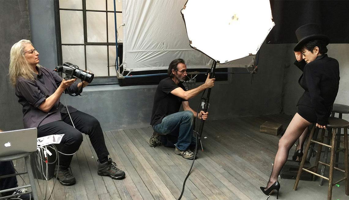 Annie Leibovitz y Yoko Ono
