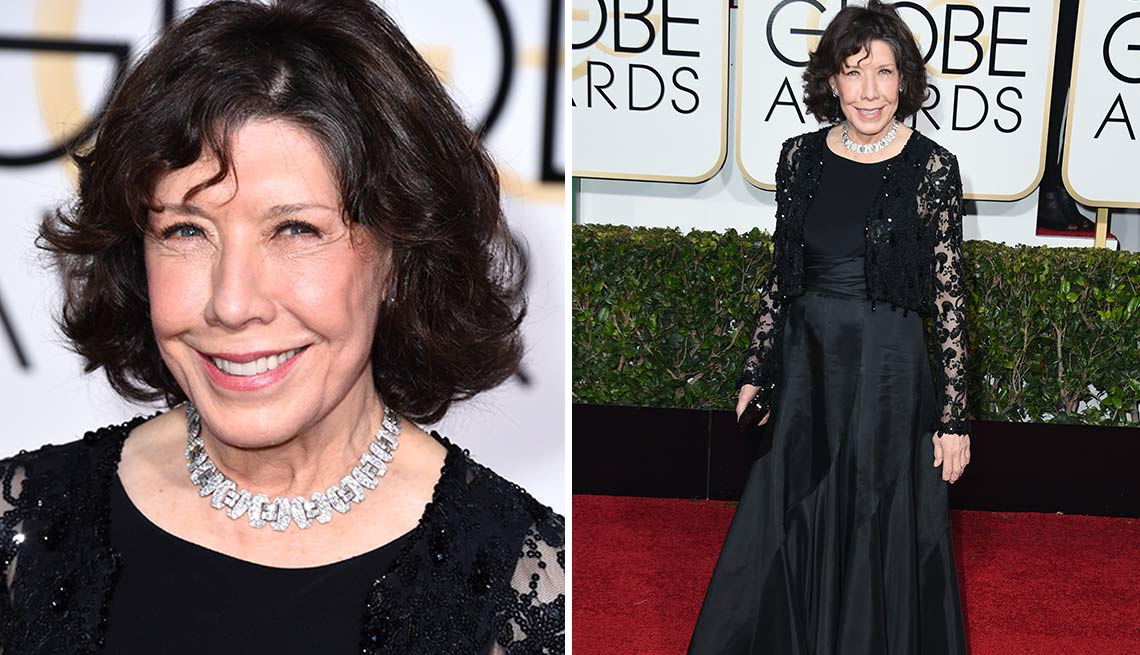 Lily Tomlin at the Golden Globes in 2015