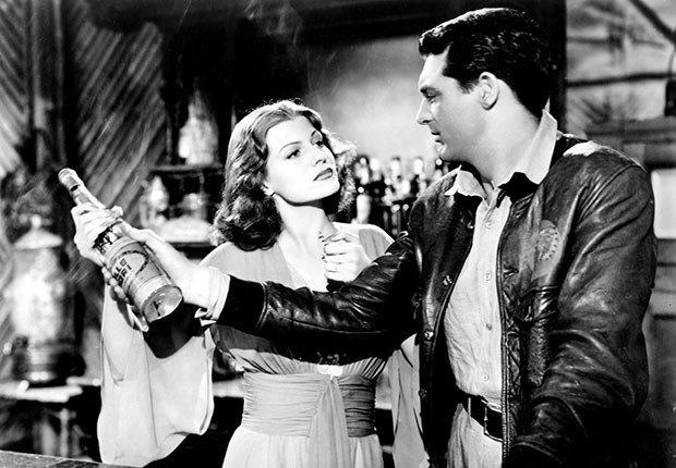 Rita Hayworth y Cary Grant en una escena de la pelicula Only Angels Have Wings - La vida de la artista en el cine