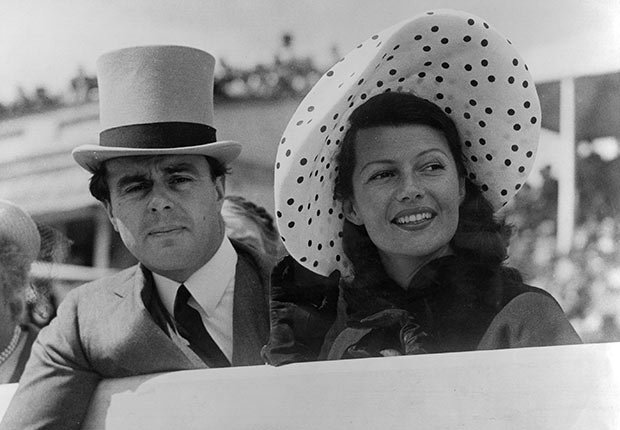 Rita Hayworth y con el príncipe Aly Khan - La vida de la artista en el cine
