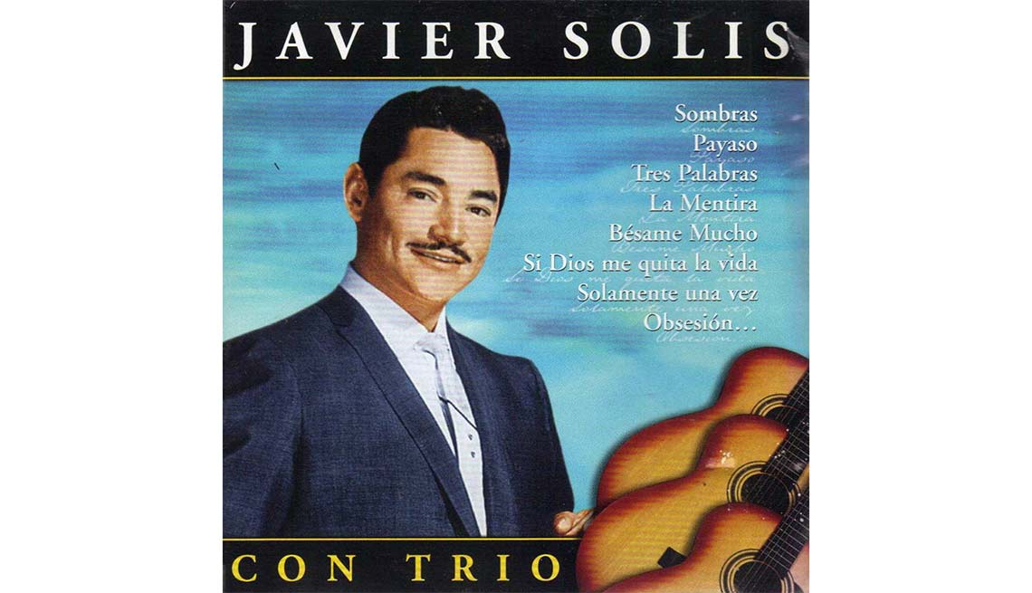 Portada del disco  Javier Solis con trío