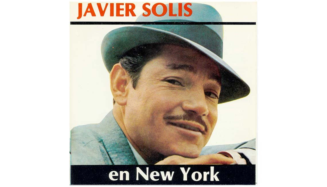 Portada del disco Javier Solis en Nueva York