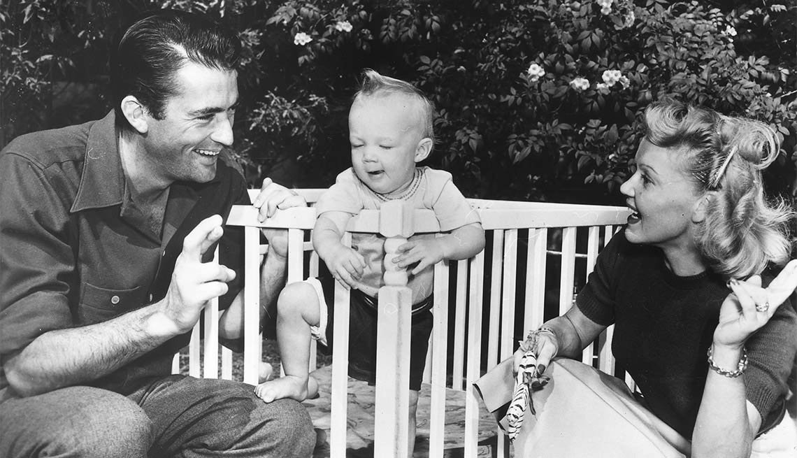 Gregory Peck con su primera esposa Greta Konen - Carrera del actor en Hollywood