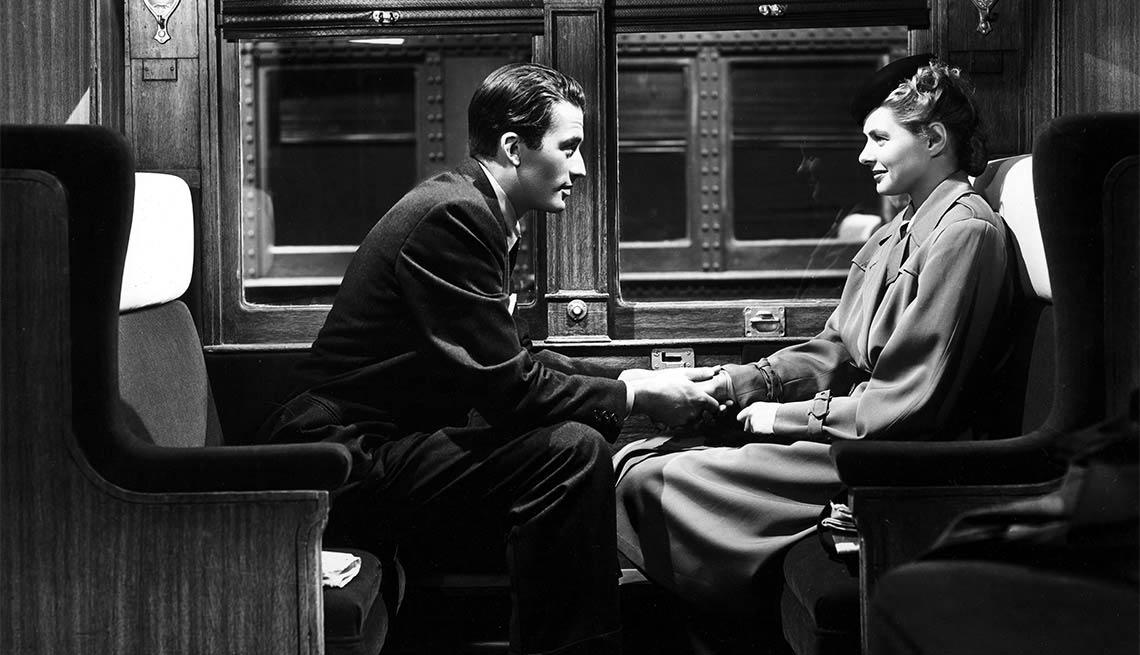 Gregory Peck e Ingrid Bergman en una escena de 'Spellbound' - Carrera del actor en Hollywood- Carrera del actor en Hollywood