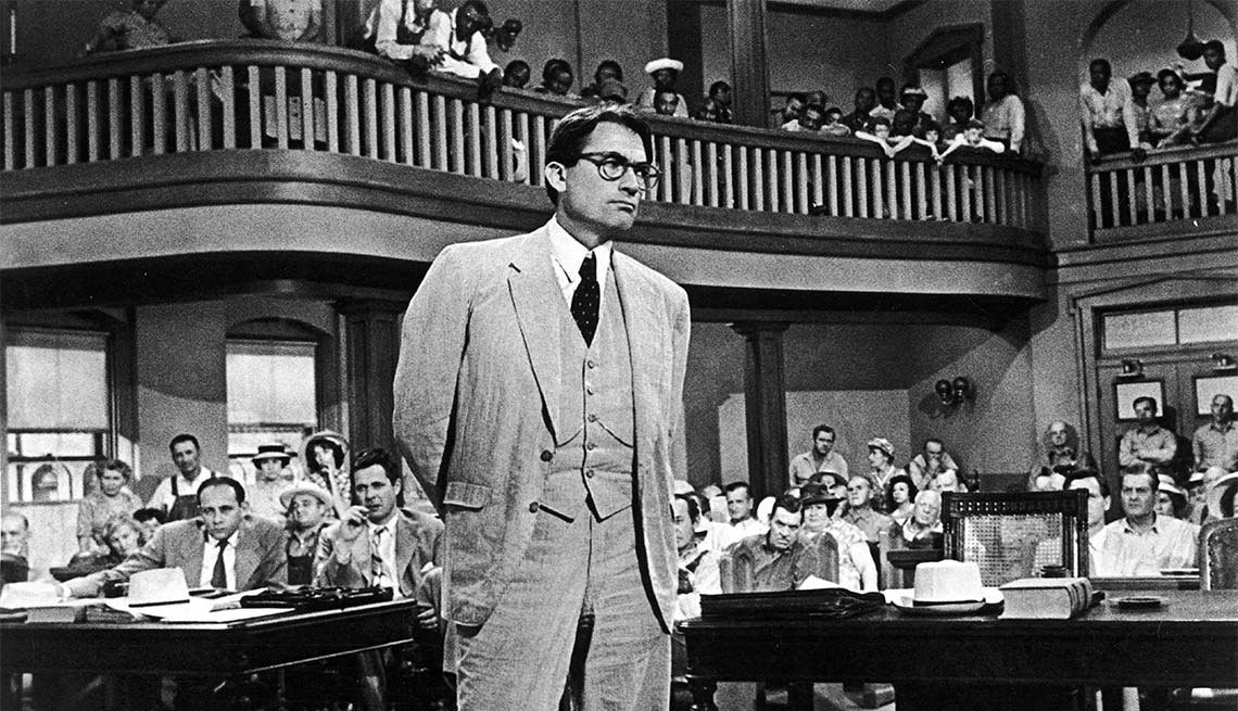 Gregory Peck en una escena de la película 'To Kill a Mockingbird'