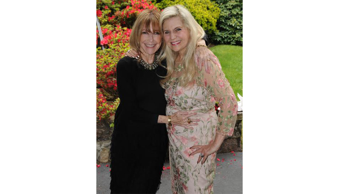 Lois Joy Johnson and best friend Valerie
