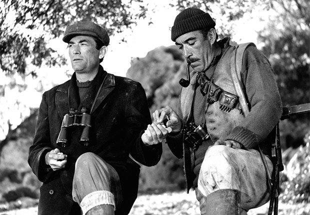 Gregory Peck y Anthony Quinn en una escena de la película 'The Guns of Navarone'