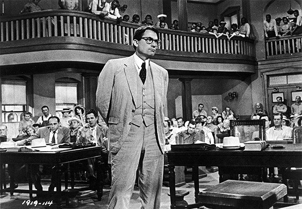 Gregory Peck en una escena de la película 'To Kill a Mockingbird'