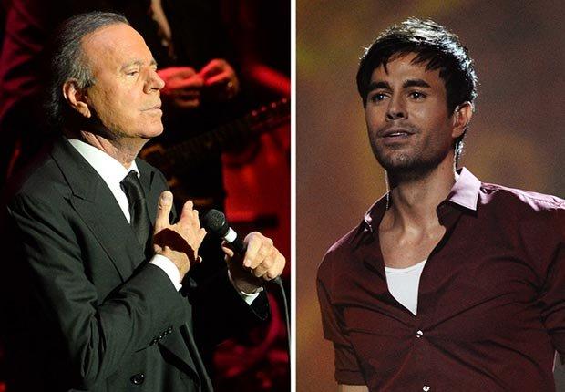 Julio y Enrique Iglesias - Papás con hijos tan famosos como ellos