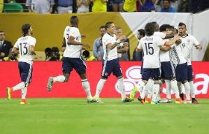 Los colombianos festejan su triunfo