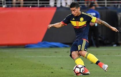 El colombiano James Rodríguez