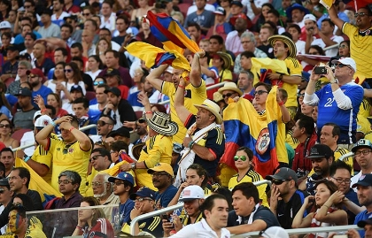 Aficionados colombianos
