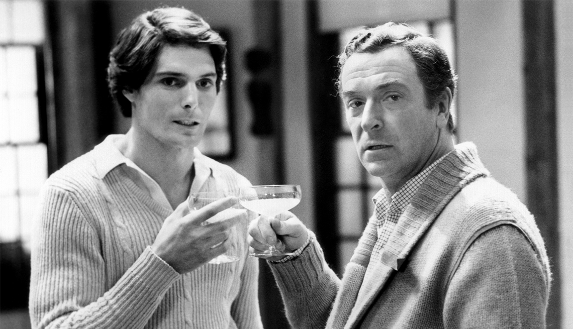 Michael Caine and Christopher Reeve from 'Deathtrap'