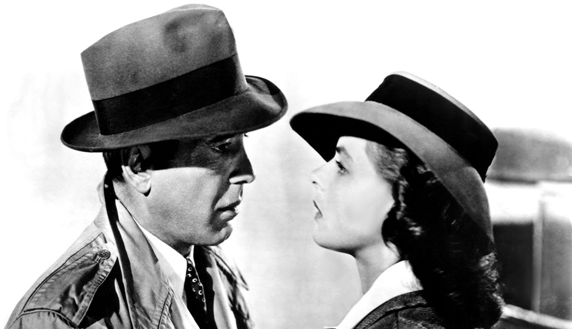Humphrey Bogart and Ingrid Bergman from 'Casablanca'