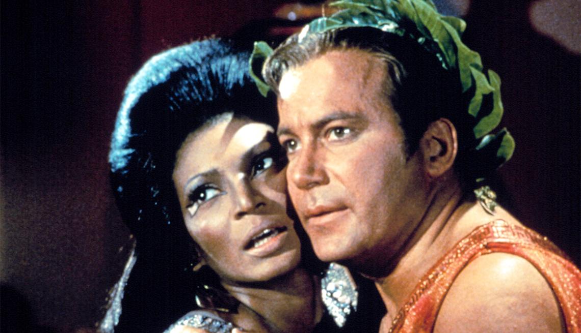 William Shatner and Nichelle Nichols from 'Star Trek'