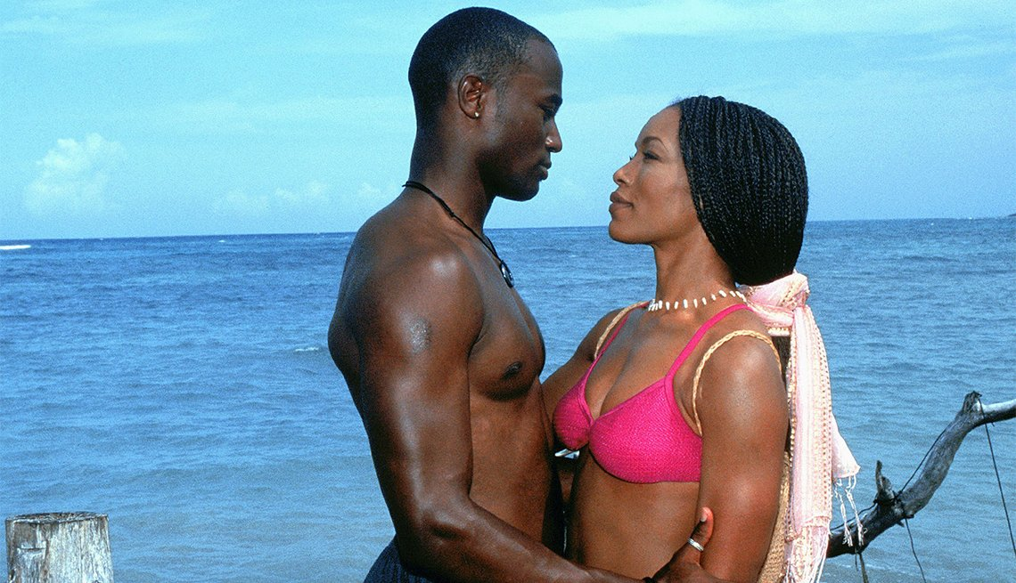 Taye Diggs and Angela Bassett from 'How Stella Got Her Groove Back'