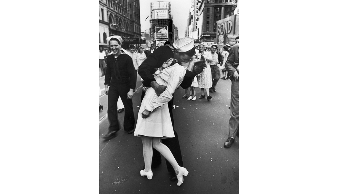 The World War II V-J Day Kiss In Times Square