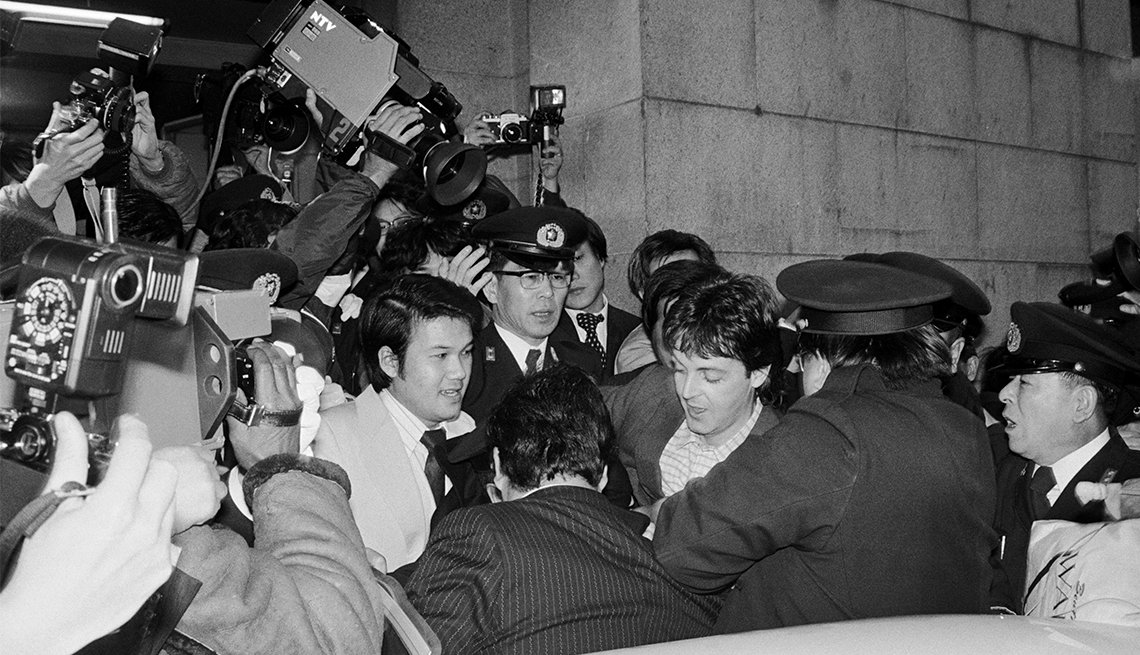 Paul McCartney is released from a Tokyo Detention Center in 1980