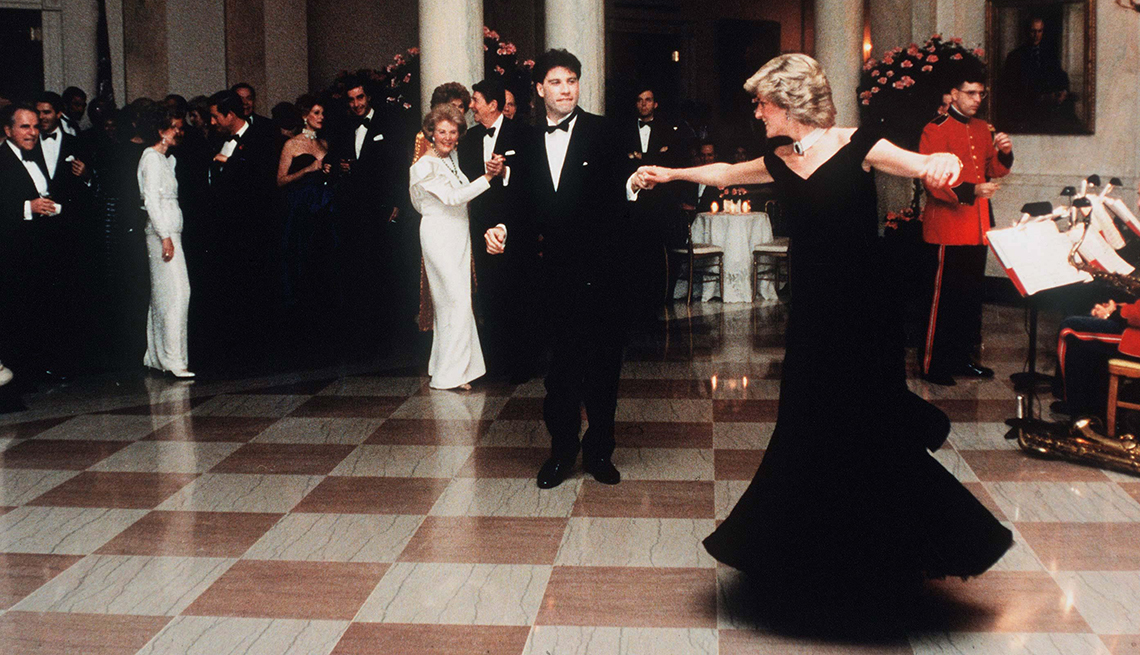 item 5 of Gallery image - Princess Diana dancing at the white house