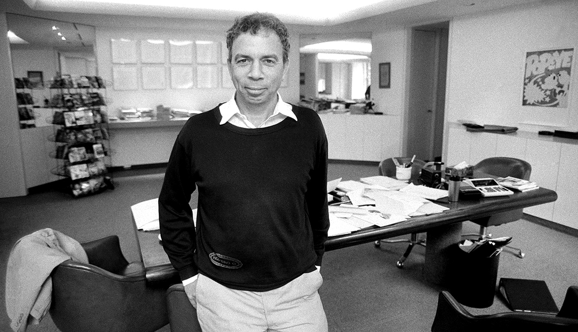S.I. Newhouse Jr. at his New York office in 1985