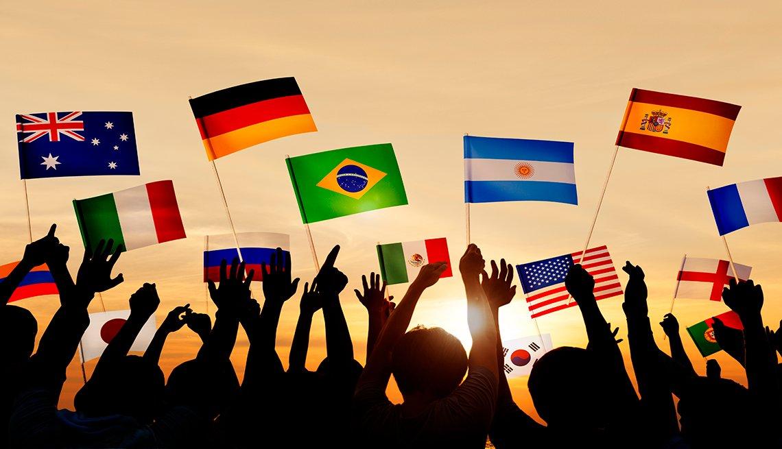 Banderas de varios países