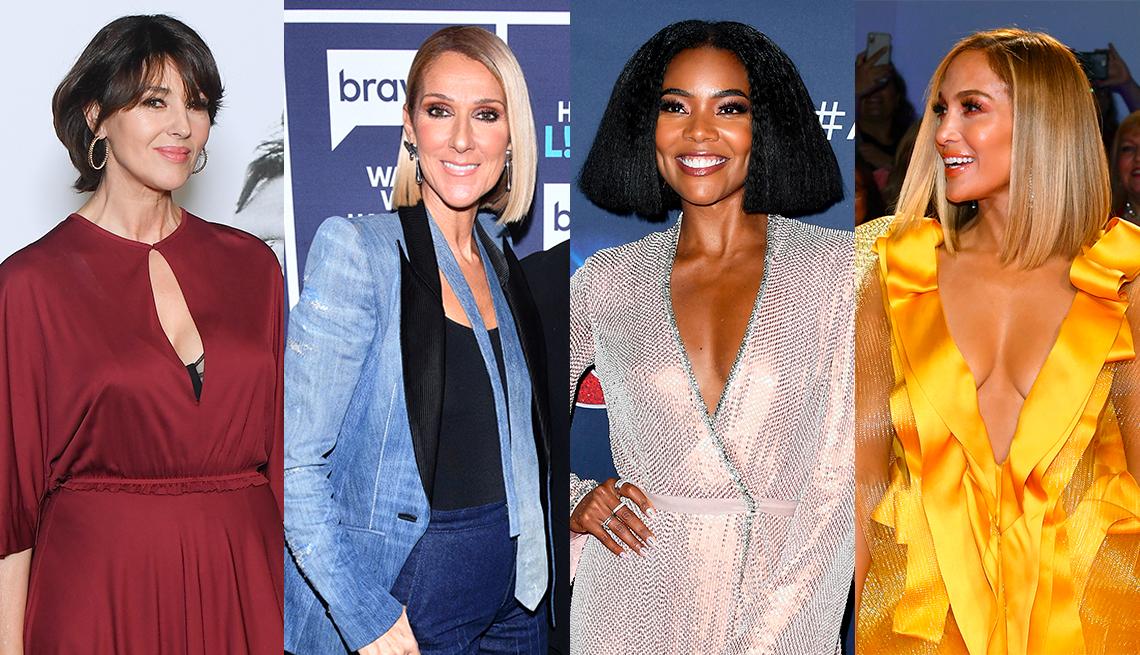 Celine Dion, Monica Bellucci, Gabrielle Union y Jennifer Lopez