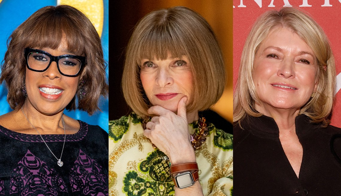 item 8, Gallery image. Gayle King, Anna Wintour y Martha Stewart