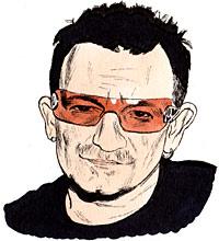 Paul David Hewson a.k.a Bono clipart
