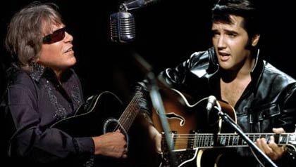 Cantante José Feliciano y el Rey Elvis Presley