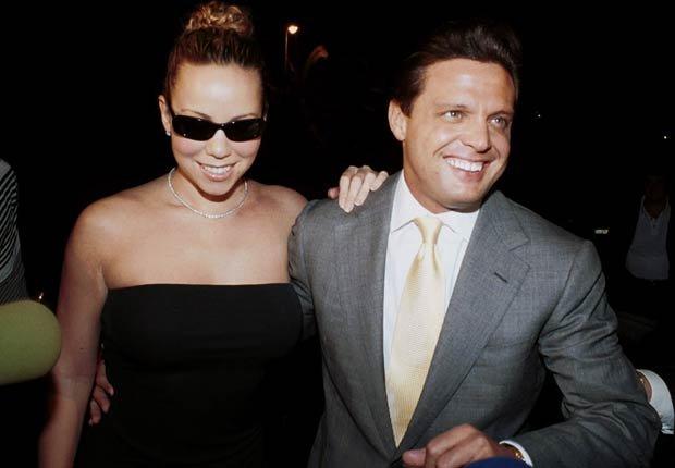 Mariah Carey con Luis Miguel celebrando el cumpleaños de este último en el restaurante Babilonia en Marbella.