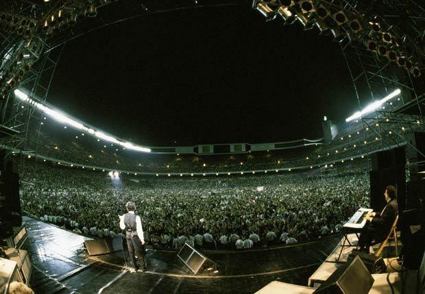 Concierto de Julio Iglesias en Madrid.