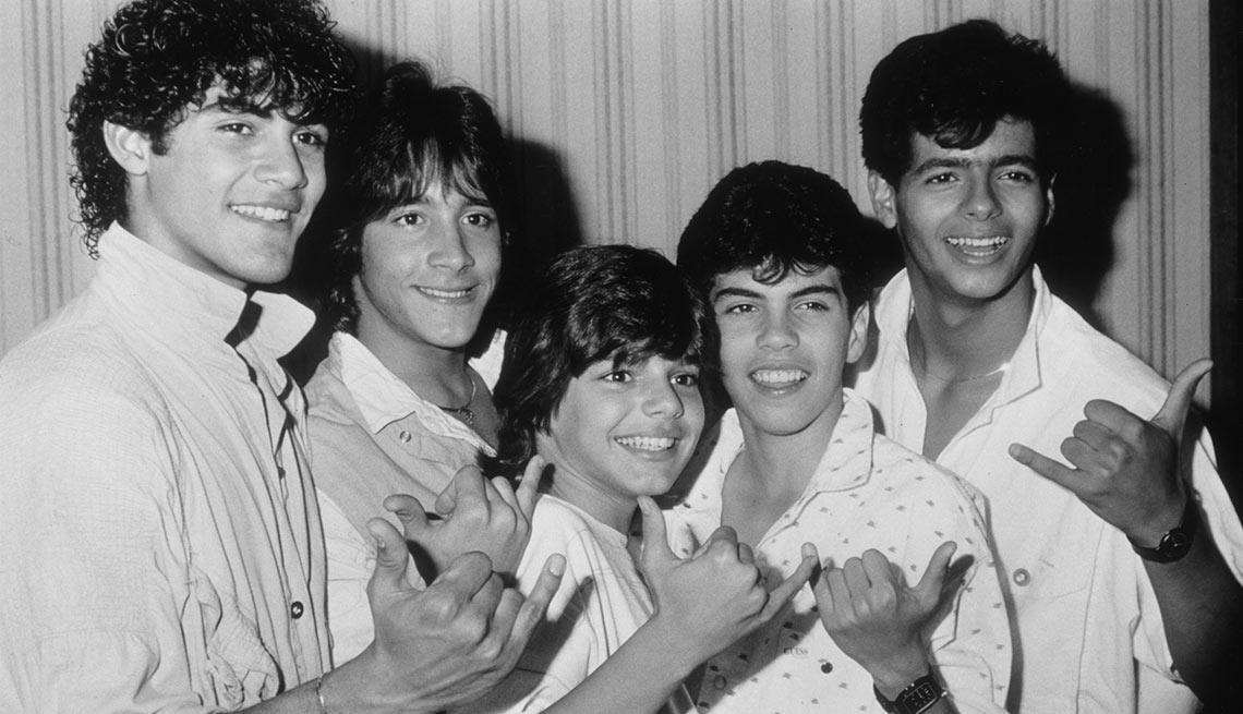 En 1984 Ricky Martin llegó a ser parte de Menudo - Foto con sus compañeros