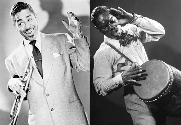 Dizzy Gillespie y el conguero cubano Chano Pozo - 10 joyas del jazz latino