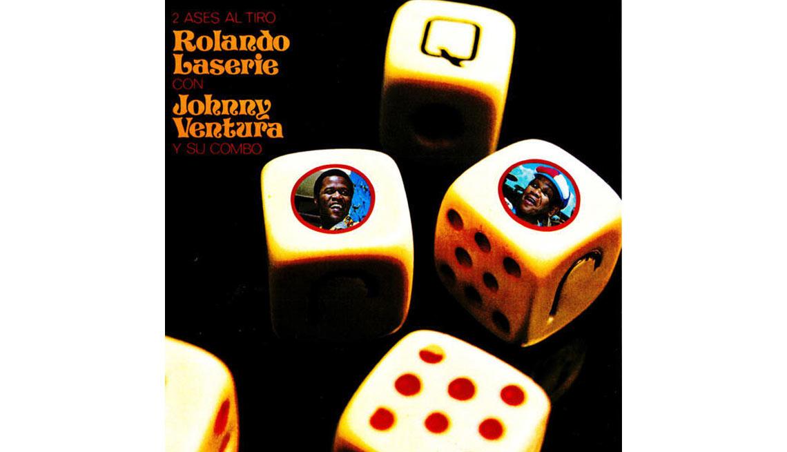 Johnny Ventura y su carrera artística- Portada del disco 2 ases al tiro