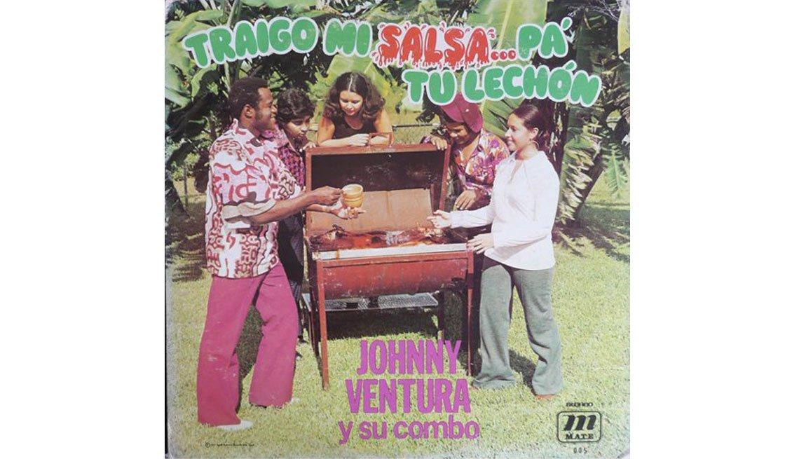 Johnny Ventura y su carrera artística - Portada del disco Traigo mi salsa... pa tu lechón