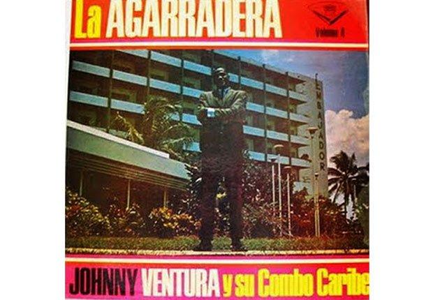 Johnny Ventura y su carrera artística - Portada del disco La agarradera