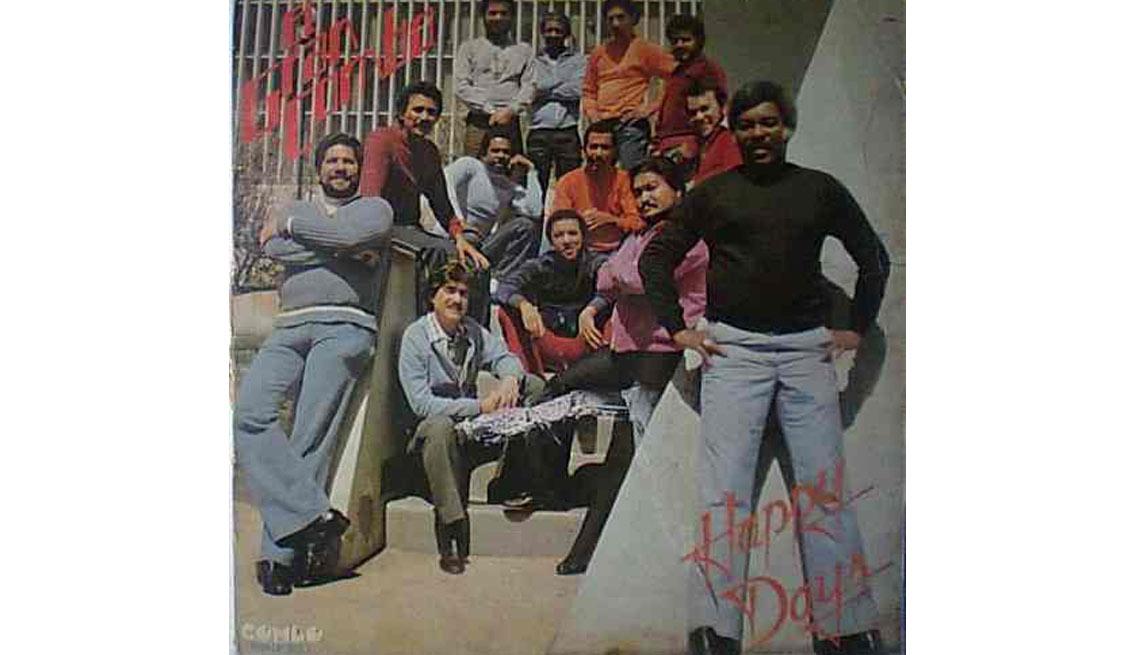 El Gran Combo, portada del álbum Happy Days - Discos que los llevaron a la fama