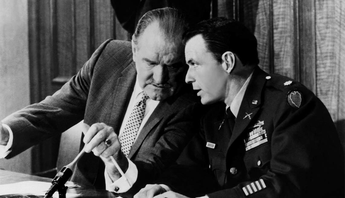 Frank Sinatra en una escena de la película The Manchurian Candidate - 100 años de su natalicio