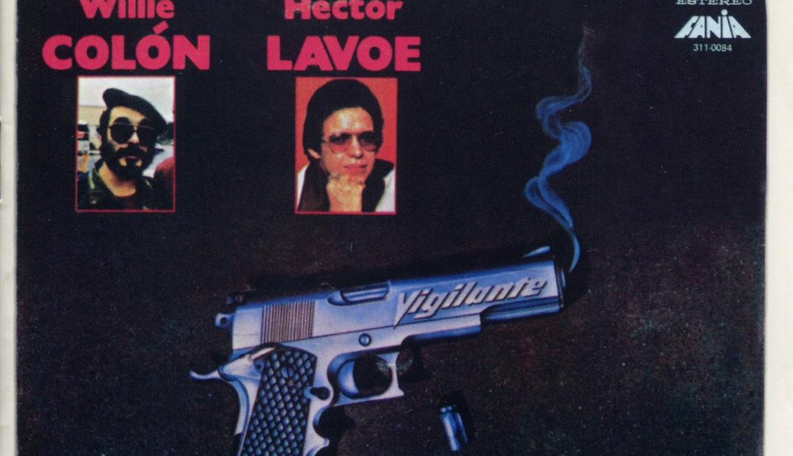 Carátula del disco de Willie Colón y Héctor Lavoe 'Vigilante'