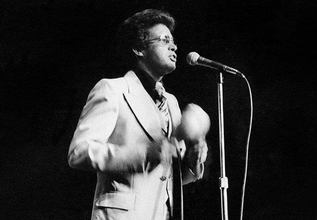 Héctor Lavoe en un concierto en el Madison Square Garden, Nueva York, 1977