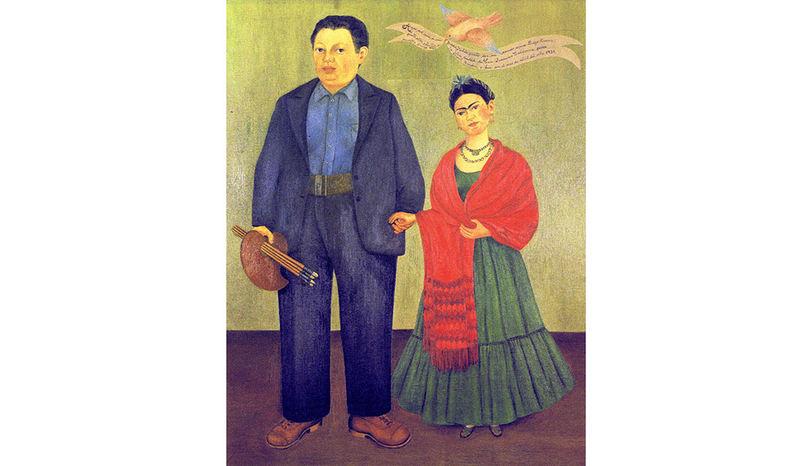 Frida Kahlo: Frida y Diego Rivera - Cuadros de artistas famosos que celebran el amor