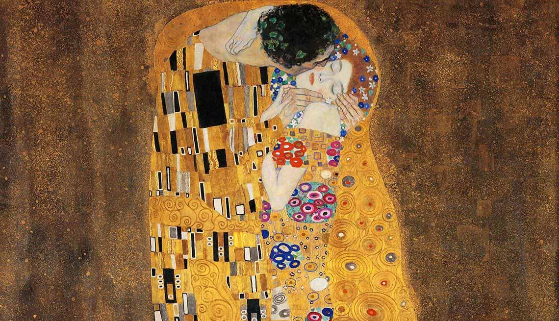 Klimt: El beso - cuadros de artistas famosos que celebran el amor
