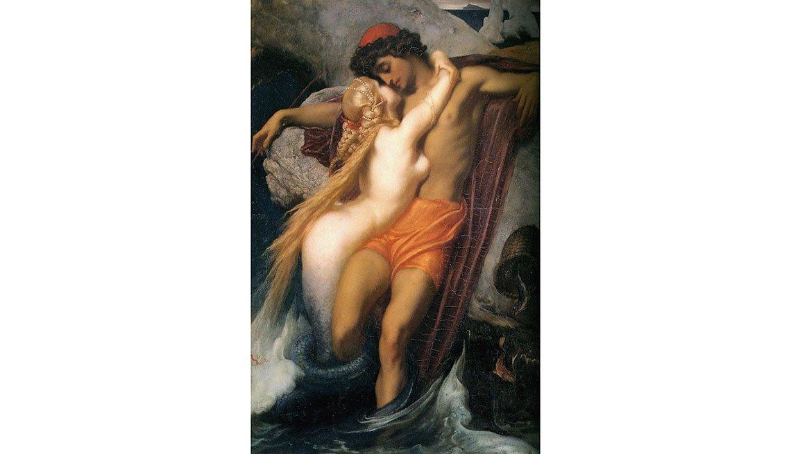 Leighton: El pescador y la sirena - Cuadros de artistas famosos que celebran el amor