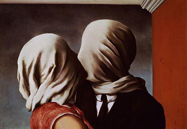 Magritte: Los amantes - Cuadros de artistas famosos que celebran el amor