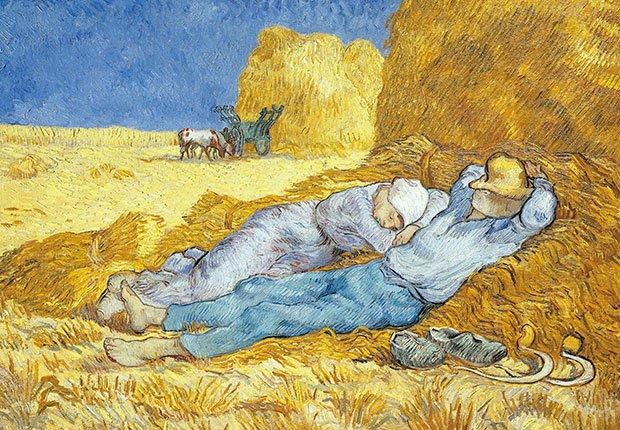 Van Gogh: Siesta - Cuadros de artistas famosos que celebran el amor