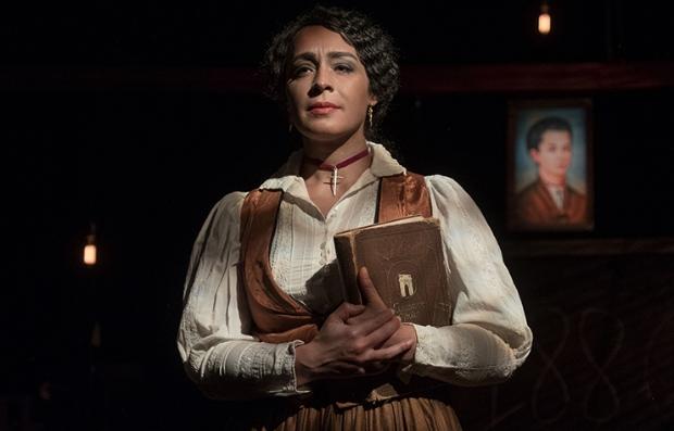 Imagen promocional de la obra de teatro, En el nombre de Salomé