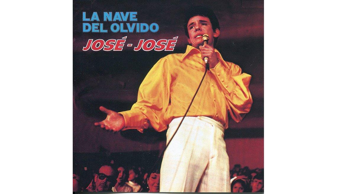 Portada del disco, La nave del olvido de José José, su carrera en fotos
