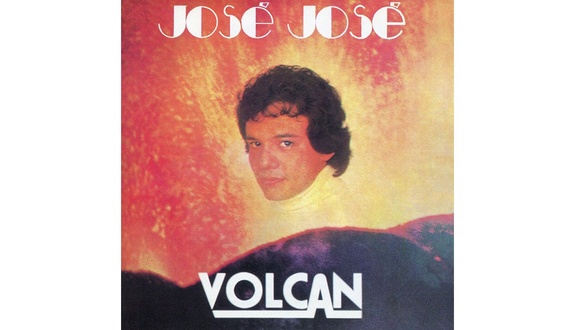 Portada del disco Volcán de José José, su carrera en fotos