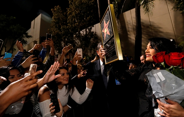 Suzette Quintanilla and Fans at Unveling of Star for Selena Quintanilla-Perez on Hollywood Walk of Fame in Los Angeles